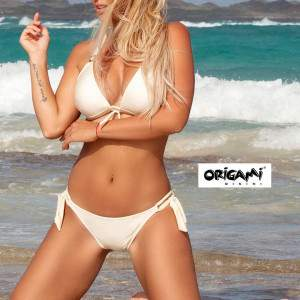 Origami PO-910 Push-Up háromszög bikini - elefántcsont