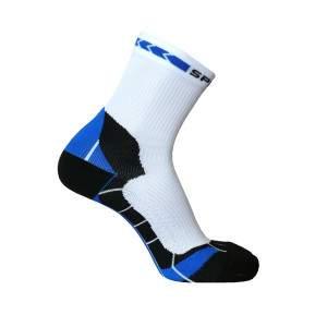 Spring Prevention Plusz kompressziós futózokni - fehér-kék