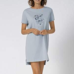 Triumph Nightdresses NDK 10 X pamut női hálóing - világoskék
