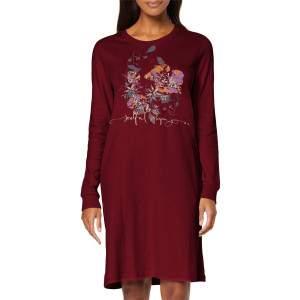 Triumph Nightdresses NDK mintás női hálóing - bordó