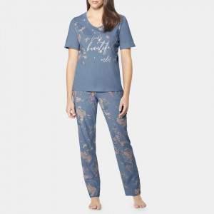 Triumph női virágos pamut pizsama