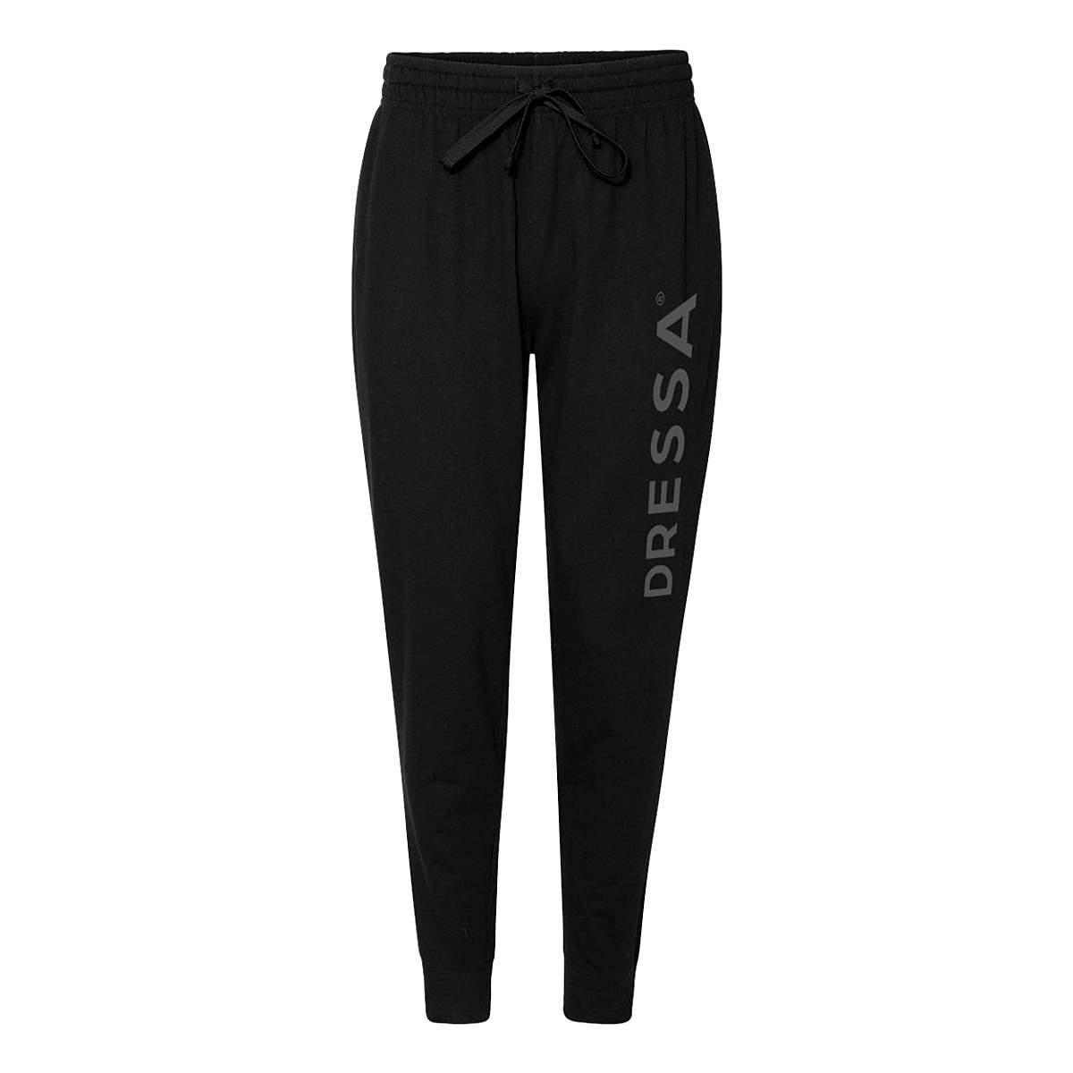 Dressa Jogger pamut női melegítő nadrág - fekete