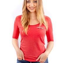 Dressa Collection 3/4-es ujjú női póló - piros