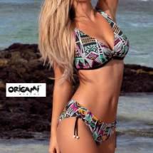 Origami D-949 nagyméretű háromszög bikini - azték mintás