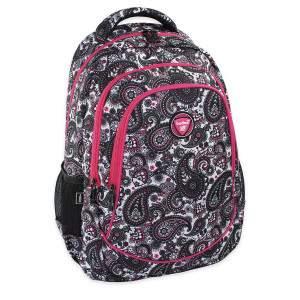 Budmil kasmír mintás hátizsák lányoknak - fekete