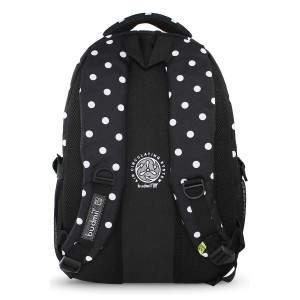Budmil pöttyös hátizsák lányoknak - fekete