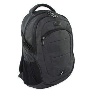 Budmil hátizsák szivacsos laptop zsebbel - fekete