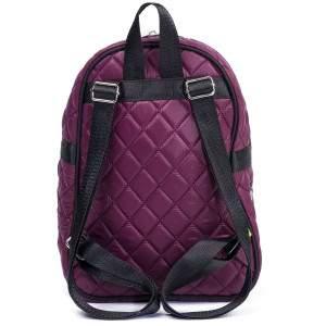 Budmil rombusz mintás mini hátizsák - padlizsán