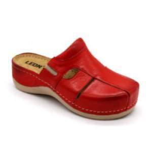 Leon 925 női bőr klumpa - piros