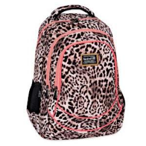 Budmil Loore leopárd mintás hátizsák - drapp-lazac színű