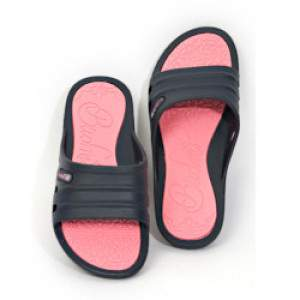 Budmil női strandpapucs - sötétkék-pink
