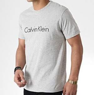 Calvin Klein Crew férfi rövidujjú póló - szürke