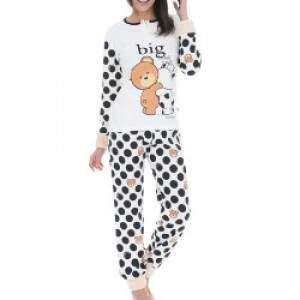 Crazy Farm 15376 női pöttyös pamut pizsama