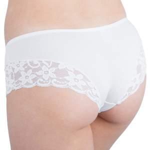 Dressa 319 csipkés hipster pamut bugyi - fehér