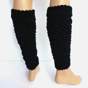 Dressa Aerobic női kötött lábszármelegítő - fekete