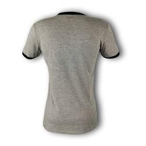 Dressa DRS Grey rövid ujjú feliratos pamut póló - szürke