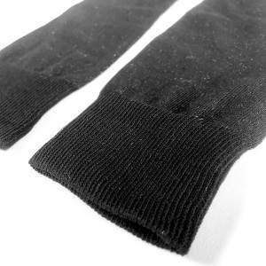 Dressa ezüstszálas gumi nélküli térdzokni - fekete - 35-43