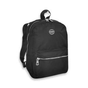 Dressa mini hátizsák fém cipzárral - fekete-ezüst