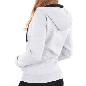 Dressa női pamut kapucnis cipzáras pulóver - melírszürke