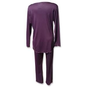 Dressa női pamut pizsama - padlizsán