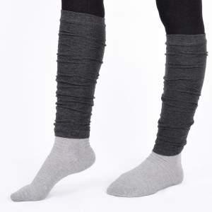 Dressa pamut lábszármelegítő - sötétszürke