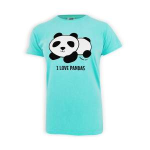 Dressa pandás pamut női póló - kék
