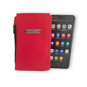 Dressa Phone nyakba akasztható övre fűzhető univerzális telefontok - piros