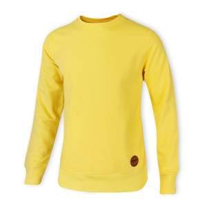 Dressa Premium férfi puha pamut pulóver - sárga
