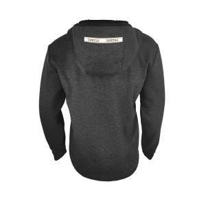 Dressa Recycled Scuba férfi cipzáros kapucnis pulóver - sötét melírszürke
