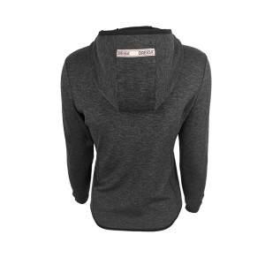 Dressa Recycled Scuba női cipzáros kapucnis pulóver - sötét melírszürke
