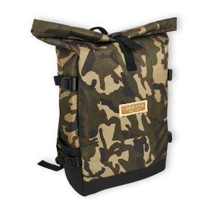 Dressa Rolltop laptoptartós csavart tetejű hátizsák - camo
