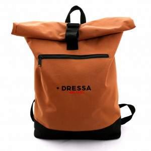 Dressa Rolltop csavart tetejű hátizsák - caramel