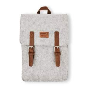 Dressa csatos mágneszáras filc hátizsák - szürke