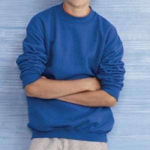 Gildan 18000B gyerek környakú pulóver