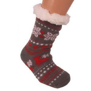 HDI korcsolya mintás gyerek mamusz zokni - szürke