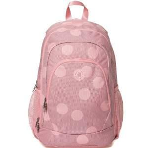 Heavy Tools Ettie21 ergonomikus pöttyös hátizsák - rózsaszín