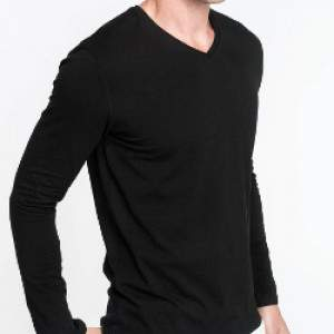 Kariban K355 férfi V-nyakú hosszú ujjú póló