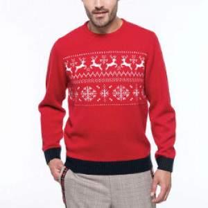 Kariban K998 férfi rénszarvasos pulóver