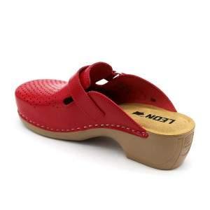 Leon PU159 női bőr klumpa - piros