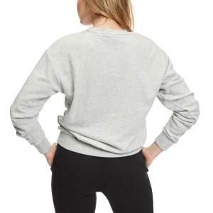 Puma Ess Logo Crew női pulóver - világosszürke
