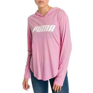 Puma Modern Sports női kapucnis hosszú ujjú póló - rózsaszín
