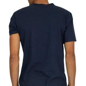 Calvin Klein férfi pamut póló - sötétkék