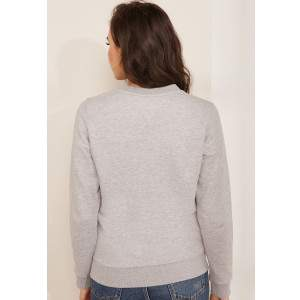 Tommy Hilfiger Tommy Jeans Essentials női pulóver - szürke