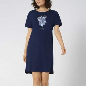 Triumph Nightdresses NDK 10 X pamut női hálóing - sötétkék