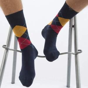 Dressa kárómintás férfi pamut zokni díszdobozban - 5 pár