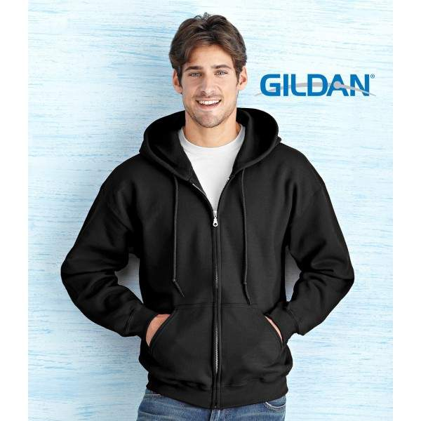 Gildan 18600 cipzáros kapucnis pulóver - 3XL-5XL