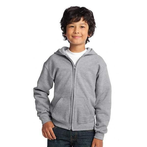 4c0ba25274 Gildan 18600B gyerek cipzáras kapucnis pulóver - Dressa.hu