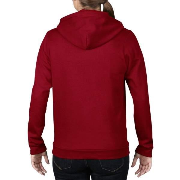 Anvil 71600L női cipzáros kapucnis pulóver