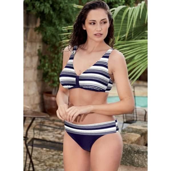 Bellissima Viareggio csíkos nagyméretű bikini - C kosár