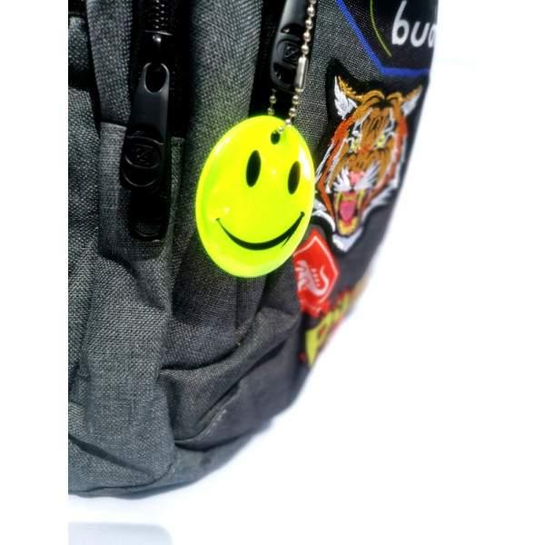 Budmil Samantha Emoji mintás hátizsák - szürke